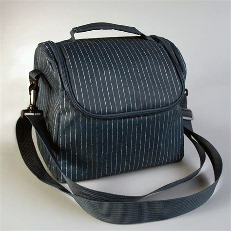 Striped Insulated Lunch Bag bentology large insulated lunch bag pin stripe