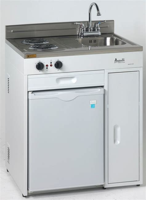 compact kitchen sink range refrigerator in a modular avanti compact unit kitchenettes