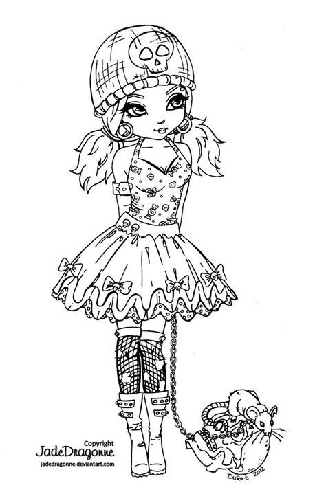 gothic chibi coloring pages coloring pages