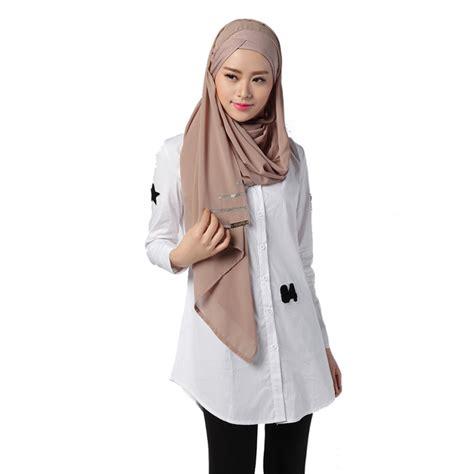 Blouse Denim Grey Atasan Muslim Blouse Muslim summer white shirt muslim shirts turkish islamic arab fashion kaftan in islamic