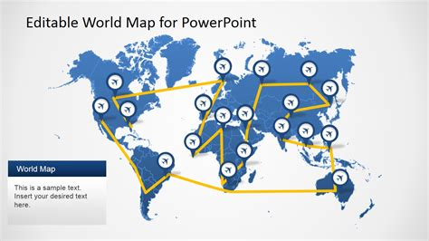 editable worldmap for powerpoint slidemodel