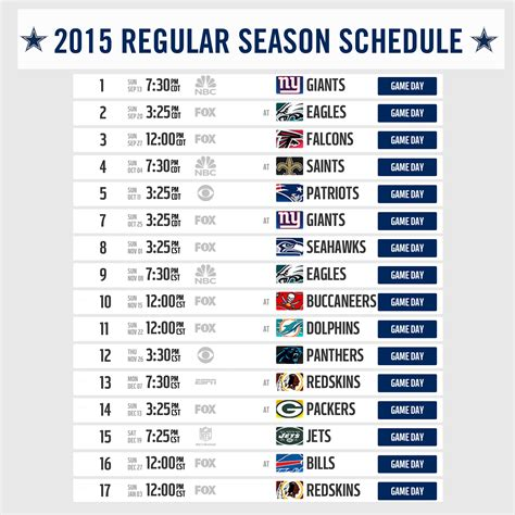 cowboys texans to open the 2015 regular season at home