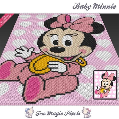 baby minnie cc crochet graph  twomagicpixels craftsy