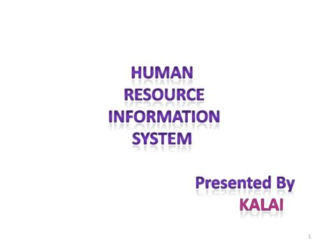 Information On Mba In Human Resources by Human Resource Information System