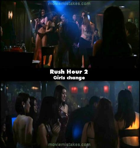 rush hour    mistakes goofs  bloopers