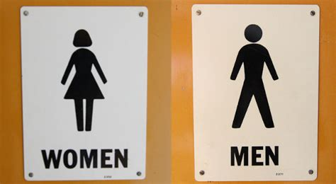 man woman bathroom sign police probe guard for barring trans man from female