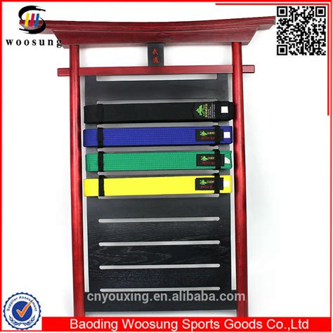 Taekwondo Belt Rack Personalized by Supplier Karate Belt Rack Personalized Karate Belt Rack