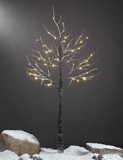 amazon com lightshare 4 lighted snow tree small