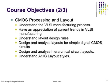 design for manufacturing in vlsi introduction to vlsi