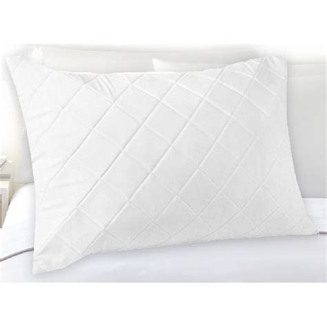 Pillow Protectors Cotton by Standard Fibre And Cotton Quilted Pillow Protector Buy