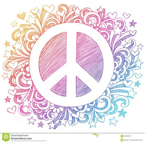 doodle sign in peace sign sketchy doodle vector royalty free stock