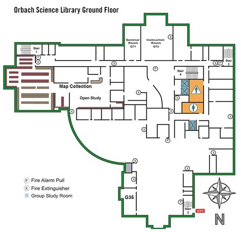 floor plan mapper orbach science library floor maps ucr library