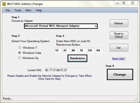 amac address change change mac address
