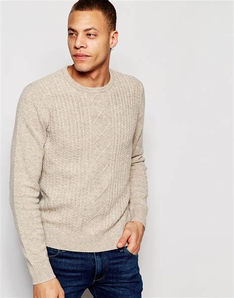 Sweater Original Lyst Original Penguin Cable Knit Effect Sweater In