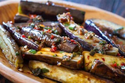 chinese eggplant  spicy garlic sauce steamy kitchen