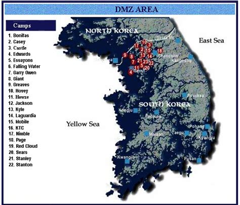 map us bases 1970 us army bases in korea 1970