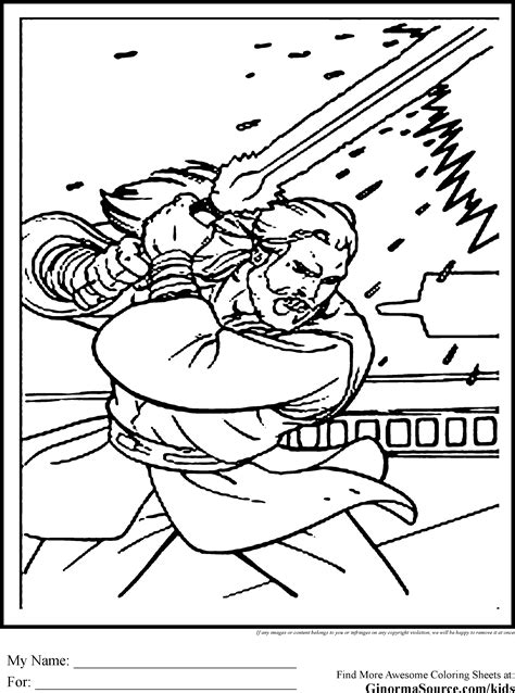 star wars coloring pages obi wan kenobi coloring pages