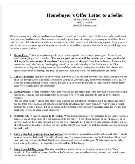 Offer Letters To Sellers 8 Real Estate Offer Letter Template 9 Free Word Pdf