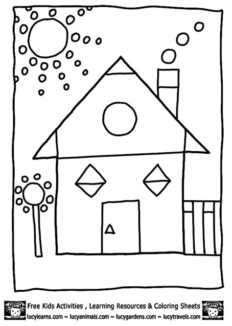 house shape coloring pages math coloring worksheets house shapes coloring pages