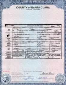 california birth certificate template santa clara county birth certificate california get vital