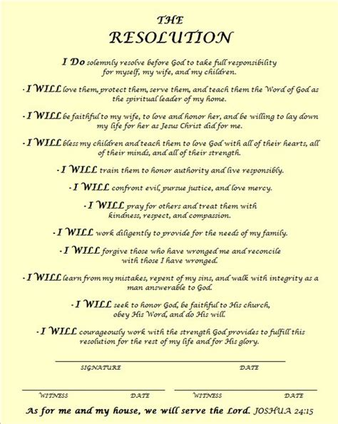 church funeral resolution template the courageous resolution inspirational