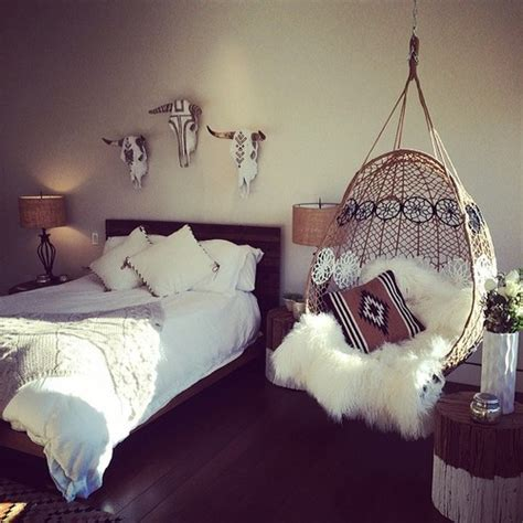 swing chair in bedroom boho bedroom how wonderful to have a hanging chair next