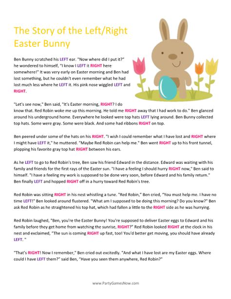 28 best easter trivia trivia parents and easter eggs easter bunny left right story easter games for adults