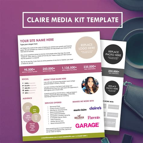 Blogger Media Kit Press Kit Template Hipmediakits Press Pack Template