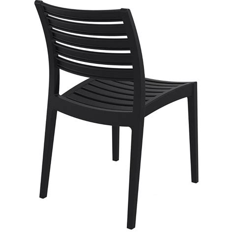 Black Outdoor Dining Chairs Compamia Ares Resin Outdoor Dining Chair Black Isp009 Bla