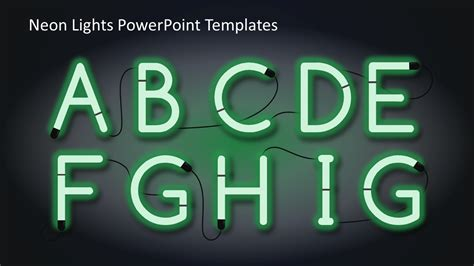 Neon Lights Powerpoint Templates Slidemodel Neon Sign Template