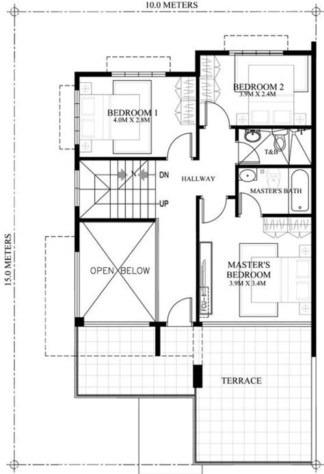 second floor plans second floor plan of 2 storey house with roof deck house