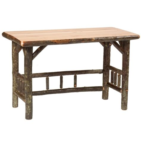 Hickory Desk by Hickory Open Writing Desk