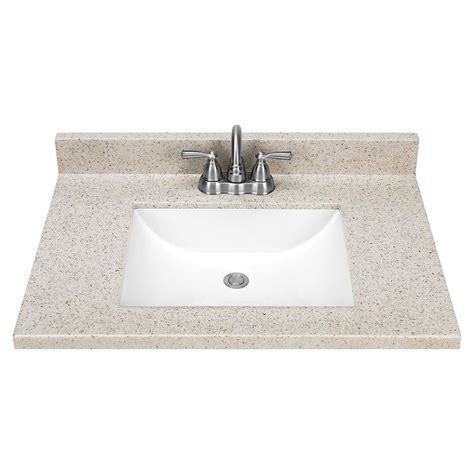 solid surface bathroom sinks and countertops shop dune solid surface integral bathroom vanity top
