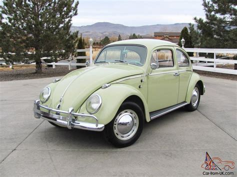 original volkswagen beetle all original beryl green 1962 volkswagen vw beetle bug 6v