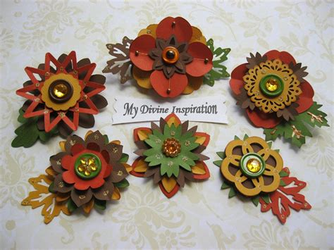 Paper Flowers For Scrapbooking - fall paper embellishments and paper flowers for scrapbooking