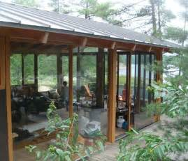 Tin Roof Pergola by French River Cottage With Passive Solar Pool Houses