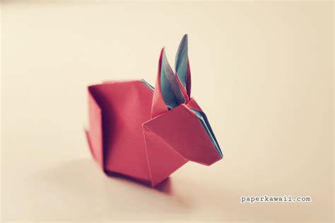 origami bunny rabbit tutorial diagram paper kawaii