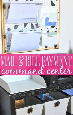 mail kitchen learn how to set up a mail and bill payment center in your