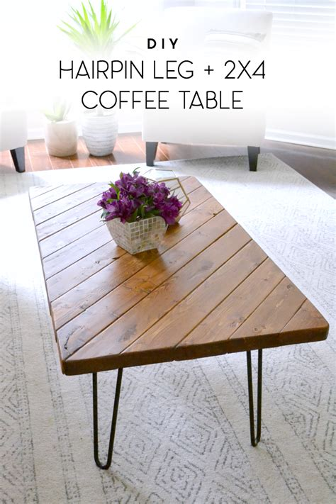 diy hairpin leg coffee table my 15 minute diy hairpin leg coffee table duckling