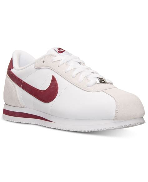 casual sneakers lyst nike s cortez basic leather casual sneakers