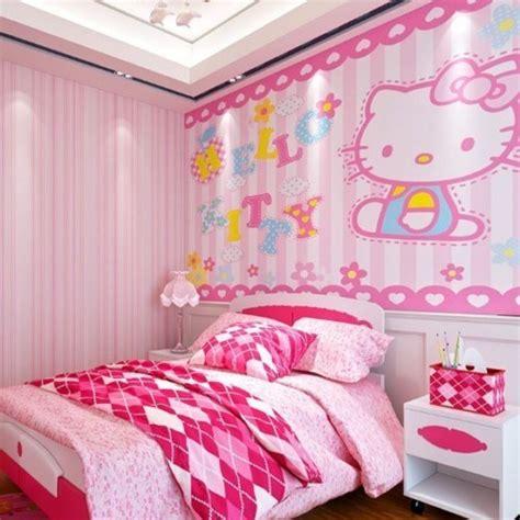 desain gambar kamar tidur  kitty anak perempuan