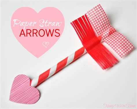 Valentines Paper Crafts - s day craft paper straw washi arrows
