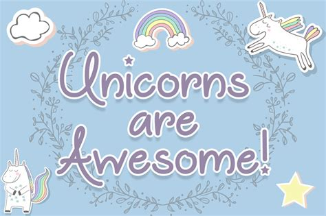 dafont unicorn calligraphy unicorns are awesome font dafont com