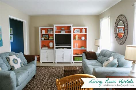Blue And Coral Living Room by Coral Blue Brown Living Room Decor Ideas