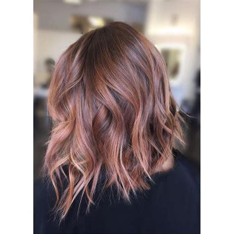 brunette to rose gold hair image result for rose gold hair brunette angled bob