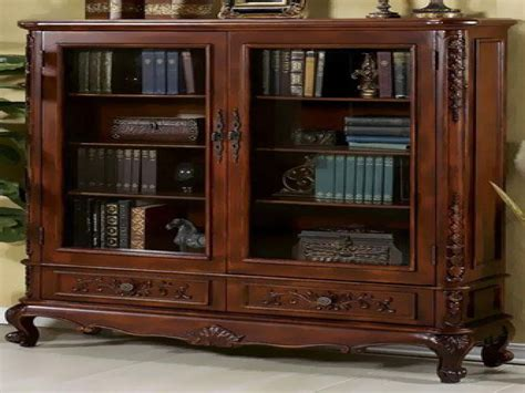 wood bookcases with glass doors bookcases doors bookcase with drawers on bottom reloc