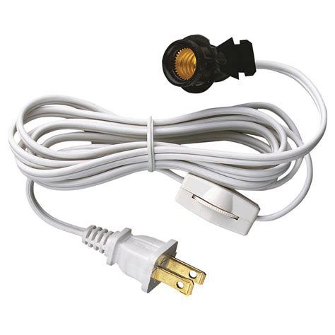 christmas light socket cord westinghouse 6 ft cord set with snap in pigtail candelabra base socket and cord switch 7010800