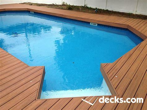 composite deck wraps    ground pool decks