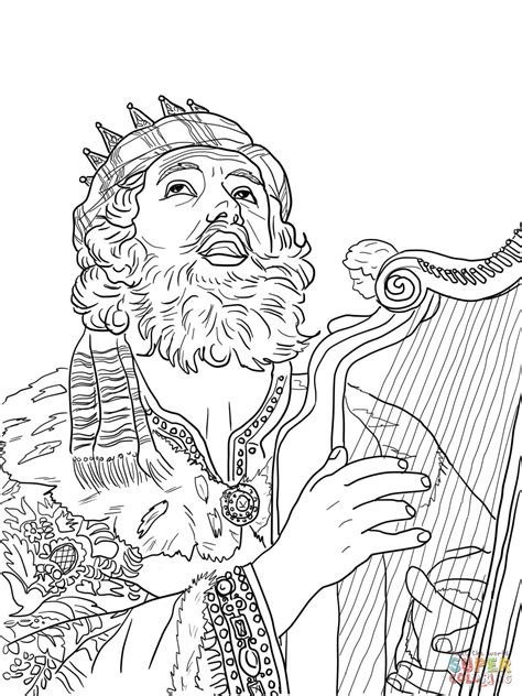coloring pages about king david king david coloring pages coloring pages