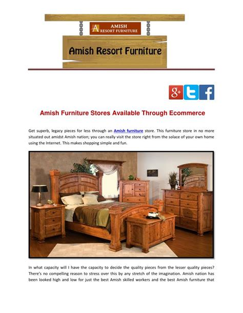 Furniture Stores Na Id by Ppt Amish Furniture Stores Available Through Ecommerce